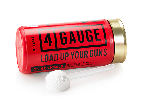 Container of 4 Gauge with full scoop